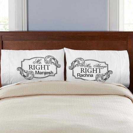 Giftsuncommon - Mr And Mrs Right Printed Pillow